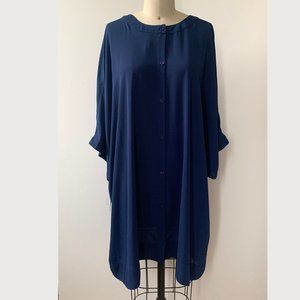 NWT Melissa McCarthy Seven7 Sz 2X Blue Tunic Dress